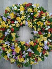 Freesia Wreath