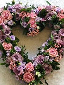 Pink & Lilac Open Heart