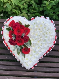 Red and white Heart