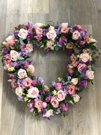 Soft pink and Lilac Open Heart